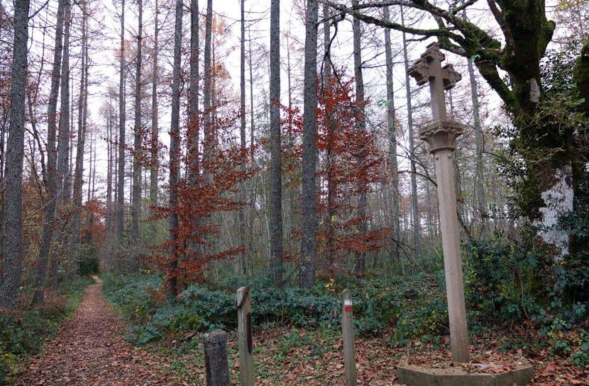 Cruz de los Canónigos en el Camino de Santiago en Auritz/Burguete