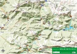 Mapa GR11 y GR12 en Navarra